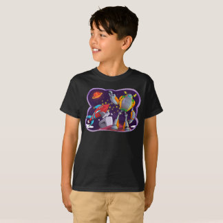 Space Robots Galactic Universe Space Kids T-Shirt