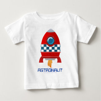 Space rocket baby t-shirt