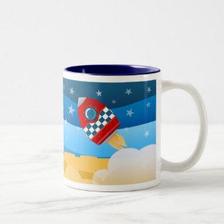 Space rocket mug