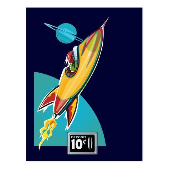 Space Rocket Ride Postcard