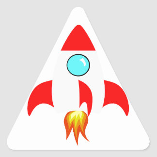 Space Rocket Triangle Stickers