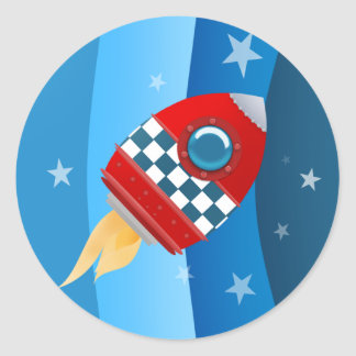 Space Rocket stickers