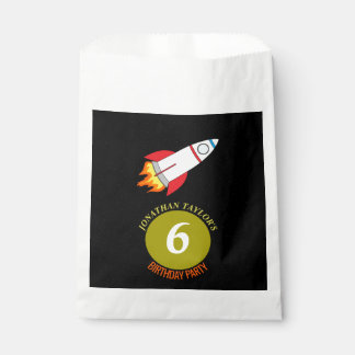 Space Rocket to the Moon Children's Birthday Favour Bags