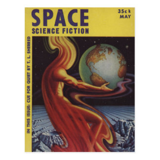 SPACE science fiction comic book comics bright fun Postcard