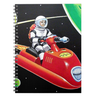 SPACE SCOOTER SPIRAL NOTEBOOK