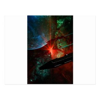 Space Ship Platoon Postcard