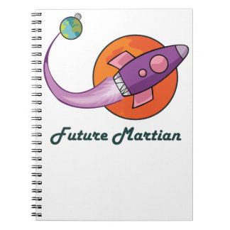 space ship rocket astronaut spiral note book