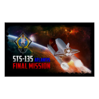 Space Shuttle Atlantis Final Mission Poster