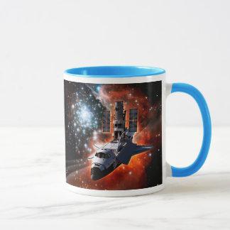 Space Shuttle Atlantis Hubble Telescope Artwork Mug
