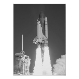 Space Shuttle Atlantis Launch Poster
