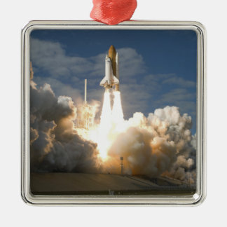 Space Shuttle Atlantis lifts off 24 Metal Ornament