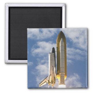Space Shuttle Atlantis lifts off 6 Square Magnet