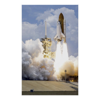 Space Shuttle Atlantis lifts off Poster