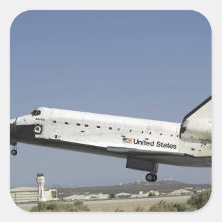 Space Shuttle Atlantis prepares for landing Square Sticker