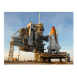 Space Shuttle Atlantis (STS-122) - launch pad Post Card