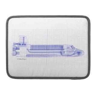 Space Shuttle Blueprints Sleeve For MacBook Pro