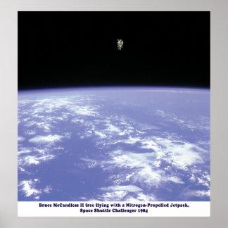 Space Shuttle Challenger JetPack Walk 1984 Poster