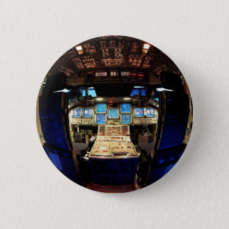 Space Shuttle Cockpit 6 Cm Round Badge