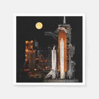 Space Shuttle Discovery and Moon Disposable Serviette