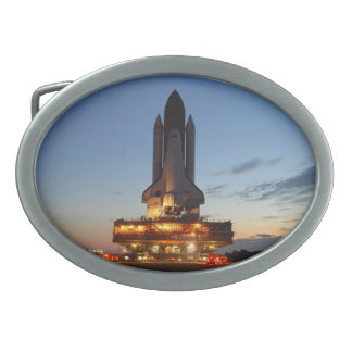 Space Shuttle Discovery Launch NASA Oval Belt Buckle