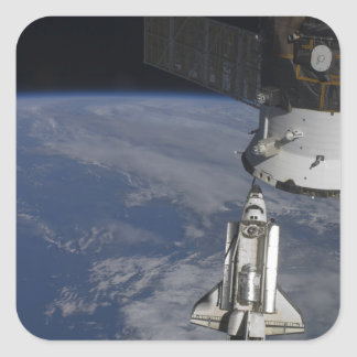 Space shuttle Endeavour 2 Square Sticker