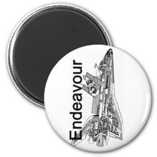 Space Shuttle Endeavour 6 Cm Round Magnet