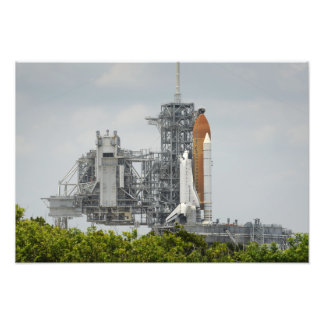 Space Shuttle Endeavour on the launch pad 2 Photo Art