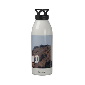 Space Shuttle Endeavour Over Hollywood sign Reusable Water Bottle