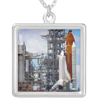 Space Shuttle Endeavour painting necklace