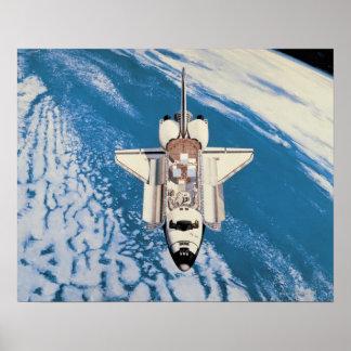 Space Shuttle in Orbit Poster