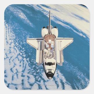 Space Shuttle in Orbit Square Sticker
