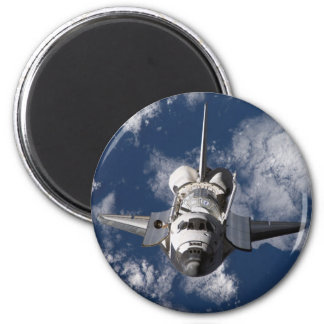 Space Shuttle in Orbiting Earth 6 Cm Round Magnet