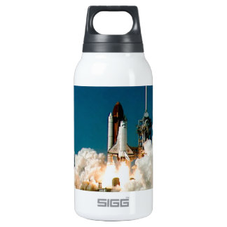 SPACE SHUTTLE LAUNCH - NASA ROCKET PHOTO 0.3 LITRE INSULATED SIGG THERMOS WATER BOTTLE