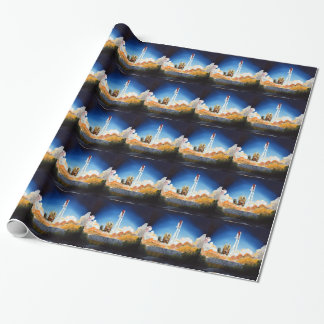 Space Shuttle Launch Wrapping Paper