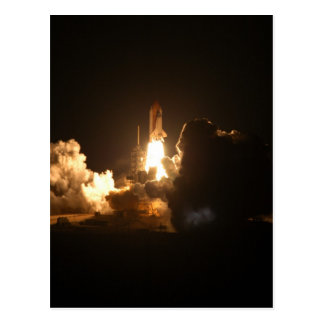 Space Shuttle Night Launch Poster Postcard