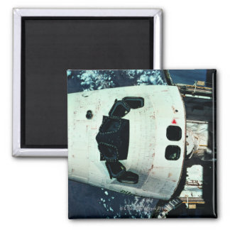 Space Shuttle Orbiting Earth Fridge Magnet