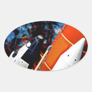 Space Shuttle Oval Sticker
