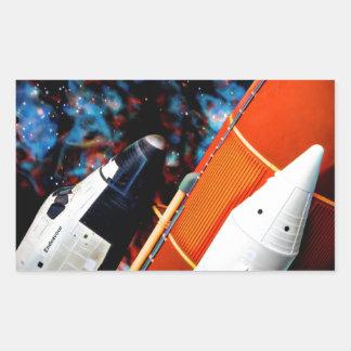 Space Shuttle Rectangular Sticker