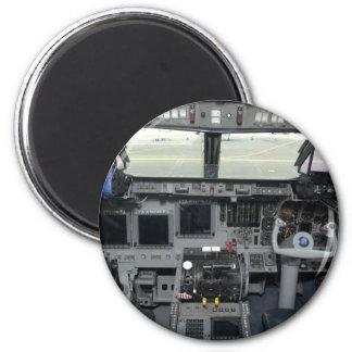 Space Shuttle Sim Aircraft Cockpit 6 Cm Round Magnet