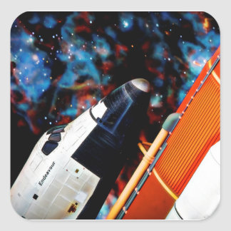 Space Shuttle Square Sticker