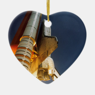 Space Shuttle take off Ceramic Heart Decoration