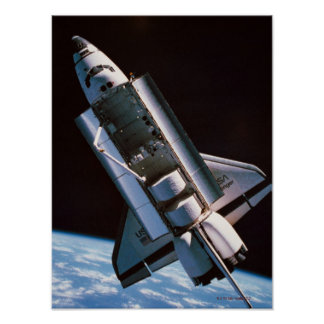 Space Shuttle with Open Cargo Bay Poster