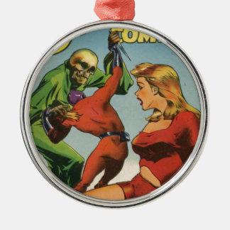 Space Skeleton Metal Ornament