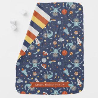 Space Sloths - Custom Name Baby Blanket