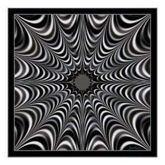 Space Spider Web Poster