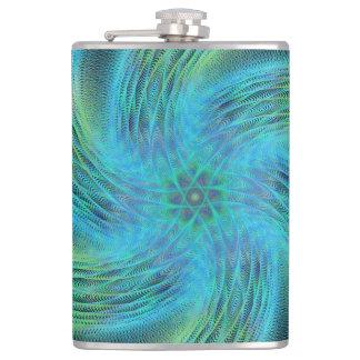 Space spiral hip flask