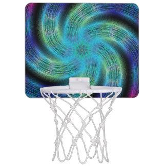 Space spiral mini basketball hoop