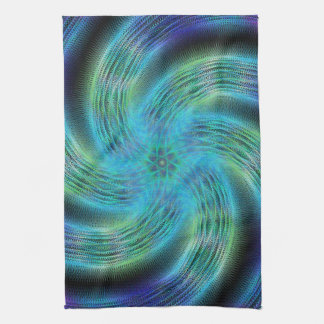 Space spiral tea towel