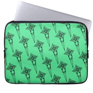 Space star fish - tribal boho pattern psychedelic laptop sleeve