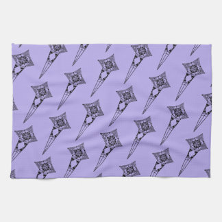 Space star fish - tribal boho pattern space towl tea towel